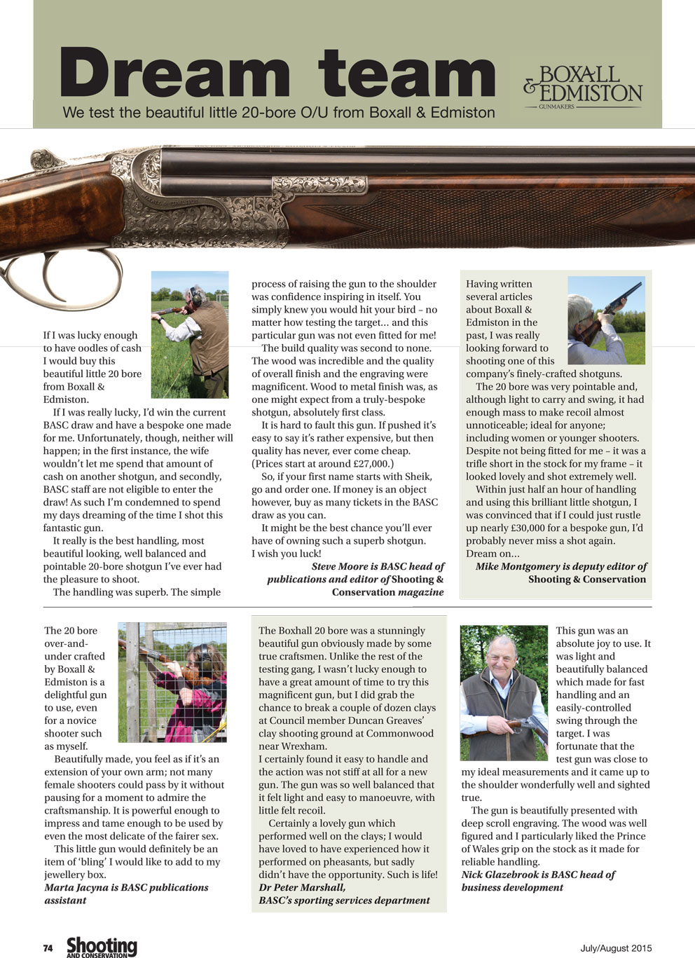BASC review of Boxall and Edmiston 20 bore over and under shotgun